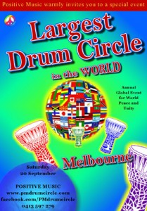 Largest-drum-circle-in-the-world2014 MELBOURNE, AUSTRALIA